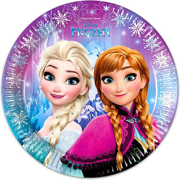 Disney hercegnők Jégvarázs 8 darabos tányér - 23 cm - 1. Kép