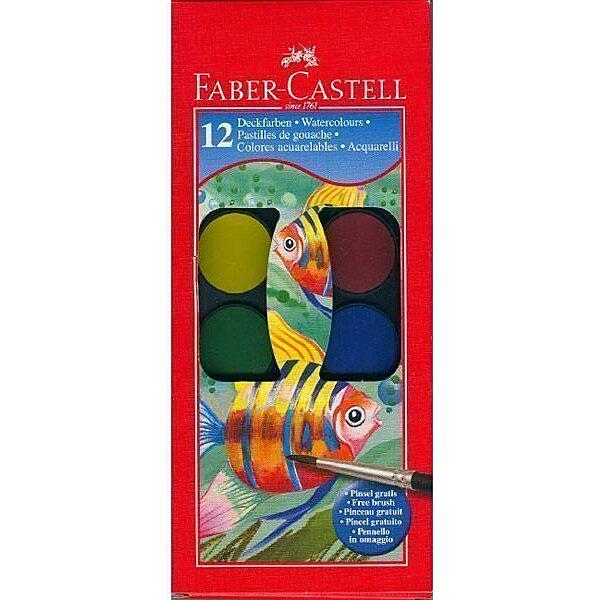 Faber-Castell vízfesték készlet ecsettel - 12 db-os - 1. Kép