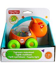 Fisher-Price: Poppity guruló csörgő tigris bébijáték - 1. Kép