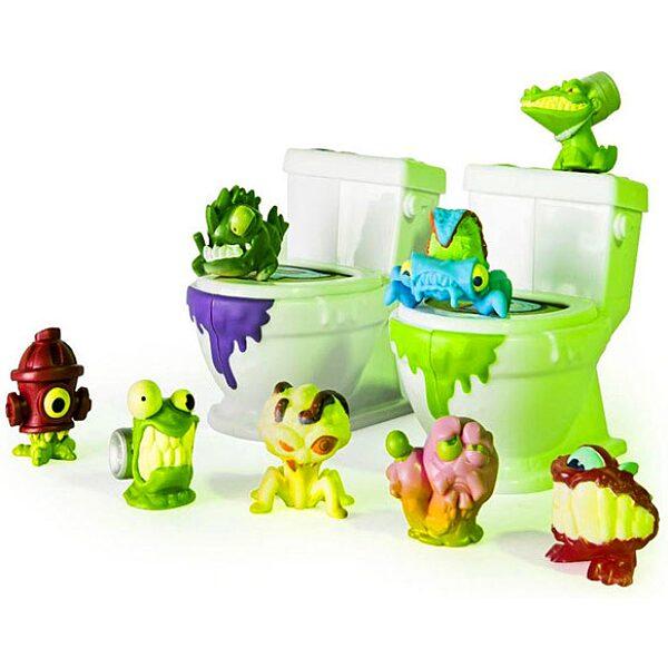 Flush Force: Bűzös WC játékszett 8 darab figurával - többféle - 3. Kép