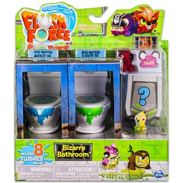 Flush Force: Bűzös WC játékszett 8 darab figurával - többféle - 1. Kép