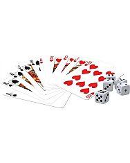 Klasszikus kártyajáték - 2 pakli kártyával és 5 darab dobókockával - 1. Kép