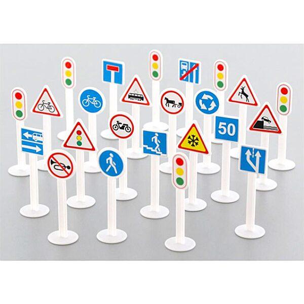Közlekedési jelzőtáblák 24 darabos szett - 1. Kép