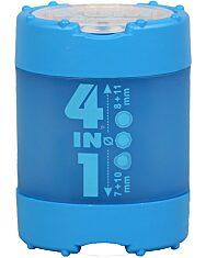 Kum négy lyukú hegyező - kék