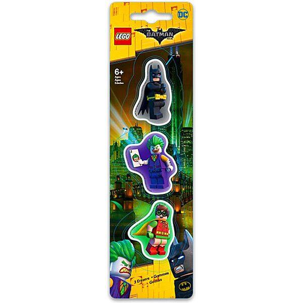 LEGO Batman Movie: 3 darabos radír készlet - többféle - 1. Kép