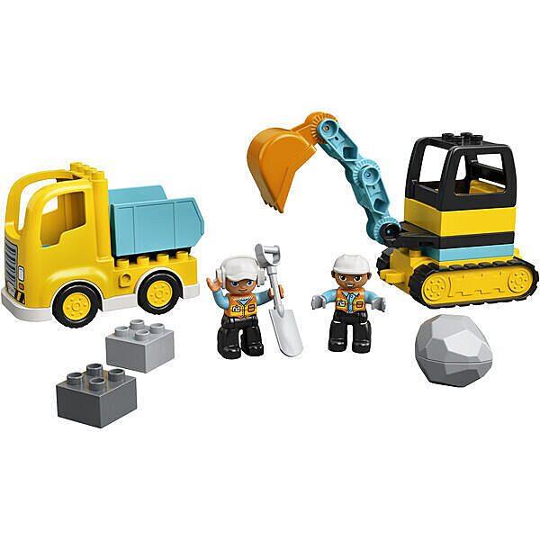 LEGO DUPLO: Teherautó és lánctalpas exkavátor 10931 - 2. Kép