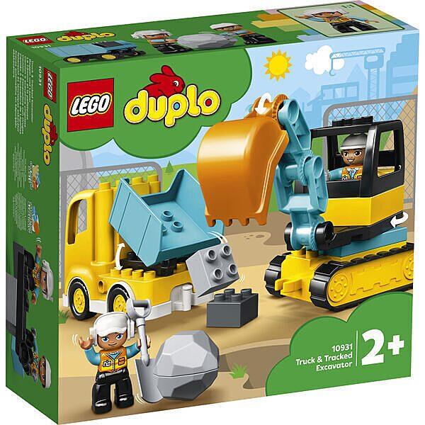 LEGO DUPLO: Teherautó és lánctalpas exkavátor 10931 - 1. Kép