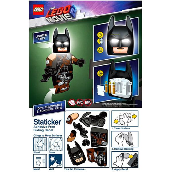 LEGO Movie 2: Batman lámpa falmatricával - 3. Kép