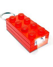 LEGO: piros téglalap világító kulcstartó - 1. Kép