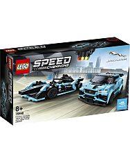 LEGO Speed Champions: Formula E Panasonic Jaguar Racing GEN2 car & Jaguar I-PACE eTROPHY 76898 - 1. Kép