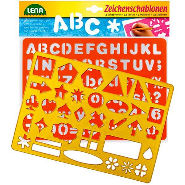 LENA: 2 db-os rajzolósablon - betűk