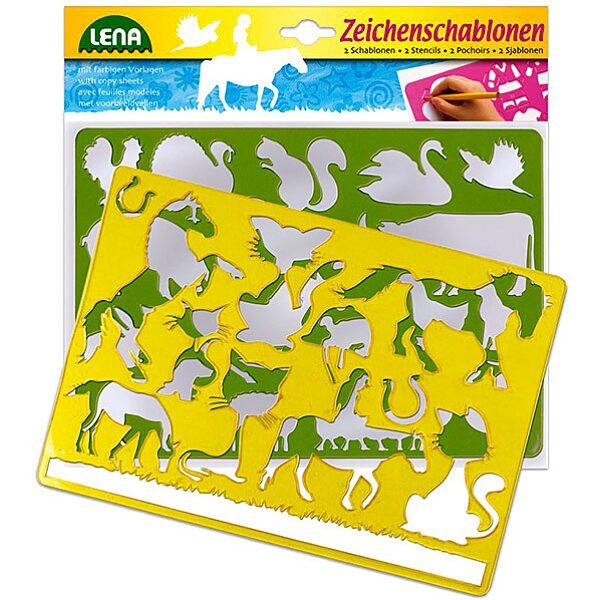 LENA: 2 db-os rajzolósablon - háziállatok - 1. Kép