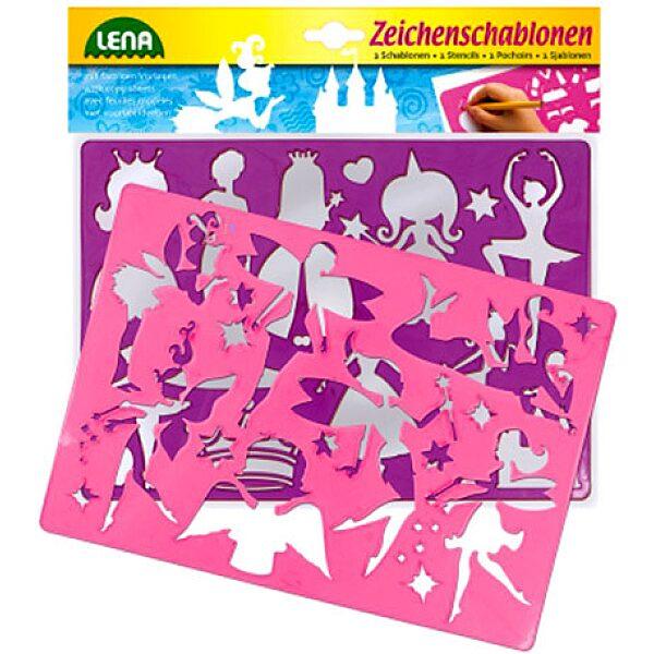 LENA: 2 db-os rajzolósablon - tündérek és hercegnők - 1. Kép
