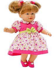 Loko: hajas baba nyári ruhában - 39 cm - 1. Kép