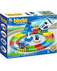Luna Blocks: Flexi 89 darabos LED-es rendőrség szett - 1. Kép