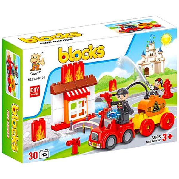 Luna Blocks: Tűzoltó építőjáték - 30 darabos - 1. Kép