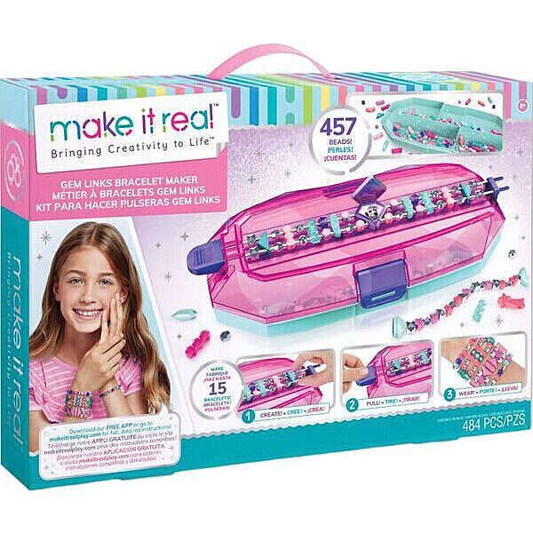 Make It Real: Csillogó karkötő készítő szett gyöngytartóval - 1. Kép