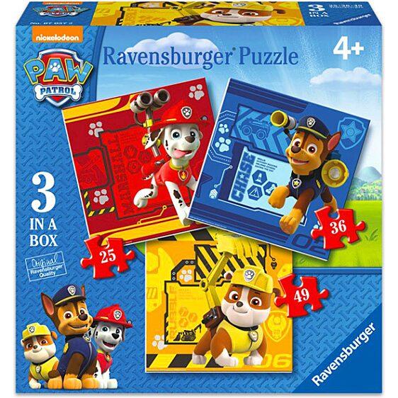 Mancs őrjárat: 3 az 1-ben puzzle - 25-36-49 darabos - 1. Kép