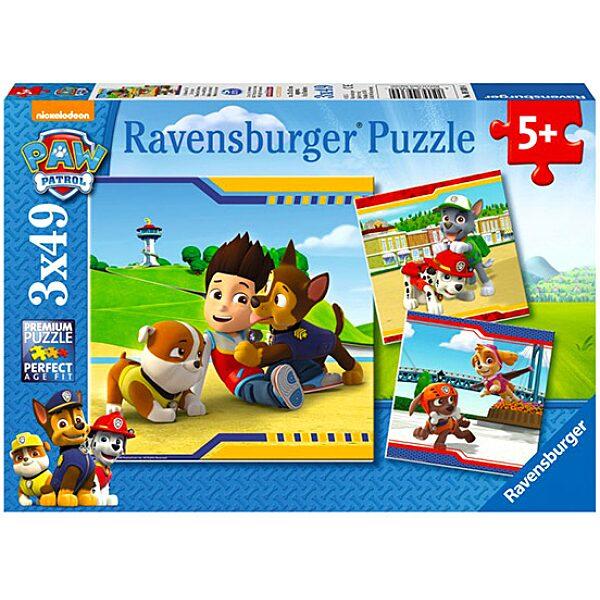 Mancs őrjárat: A legjobb barátok - 3x49 darabos puzzle - 1. Kép