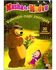 Masha és a Medve: Valentin-napi zsongás foglalkoztató könyv - 1. Kép