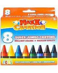MaxxCreation: 8 darabos szuper tömzsi zsírkréta - 1. Kép