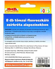 MaxxCreation: Tömzsi fluoreszkáló zsírkréták alapszínekben - 8 darab - 2. Kép