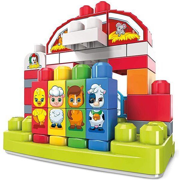 Mega Bloks: Zenélő farm építőkocka szett 46 darabos - 3. Kép