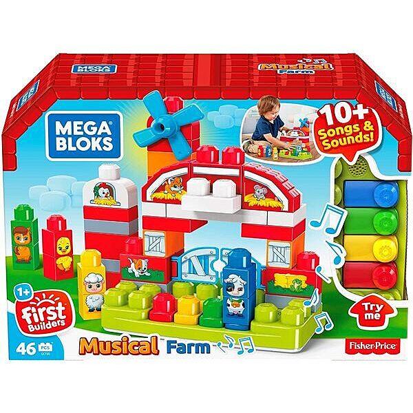 Mega Bloks: Zenélő farm építőkocka szett 46 darabos - 1. Kép