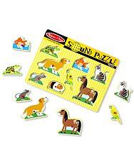 Melissa and Doug: hangos puzzle - háziállatok - 2. Kép