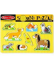 Melissa and Doug: hangos puzzle - háziállatok - 1. Kép