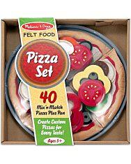 Melissa and Doug: Sütés-főzés 40 darabos pizza szett - 1. Kép
