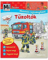 Mi micsoda junior: Tűzoltók matricás rejtvényfüzet - 1. Kép