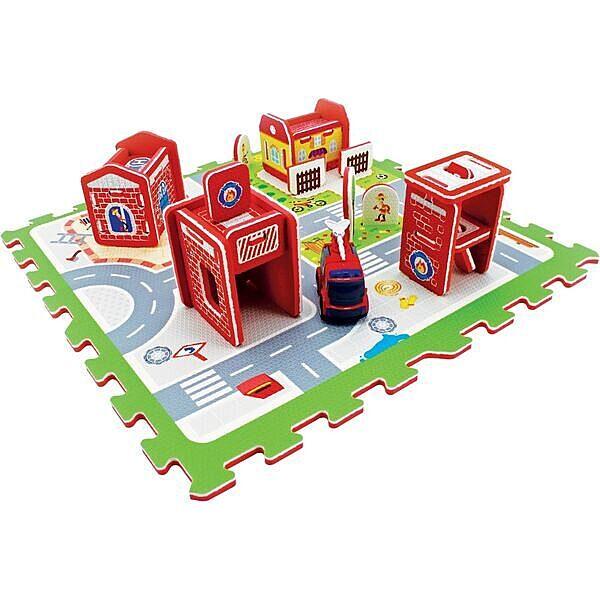 Mini tűzoltóállomás szivacs puzzle szőnyeg - 1. Kép