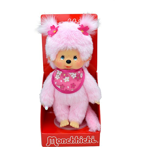 Monchhichi: cseresznyevirág lány plüssfigura - 20 cm - 4. Kép