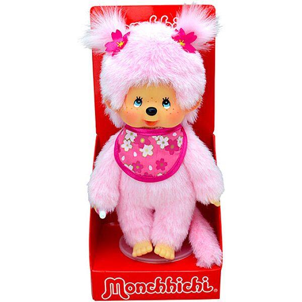 Monchhichi: cseresznyevirág lány plüssfigura - 20 cm - 1. Kép
