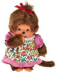 Monchhichi - lány figura tarka virágos ruhában - 20 cm - 4. Kép