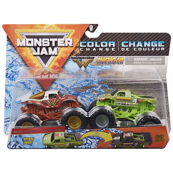 Monster Jam 2 darabos színváltós kisautók - Wonder Woman és Avanger - 1. Kép
