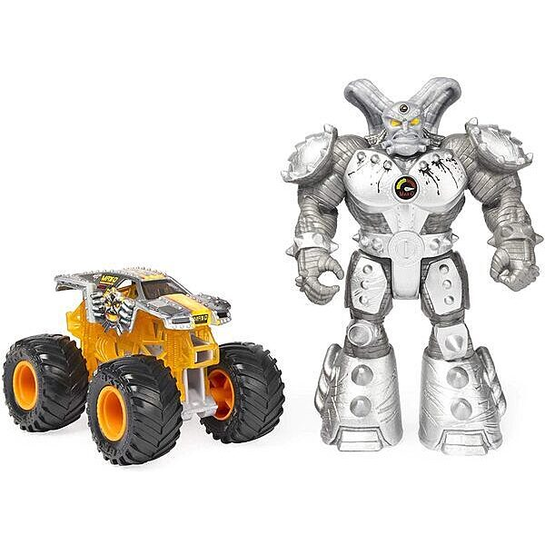 Monster Jam: MAX-D kisautó Maximus figurával - 2. Kép