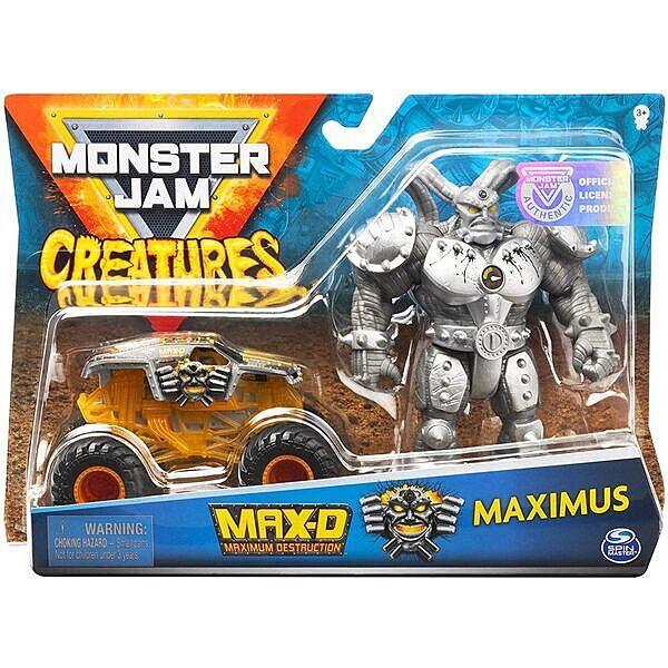 Monster Jam: MAX-D kisautó Maximus figurával - 1. Kép