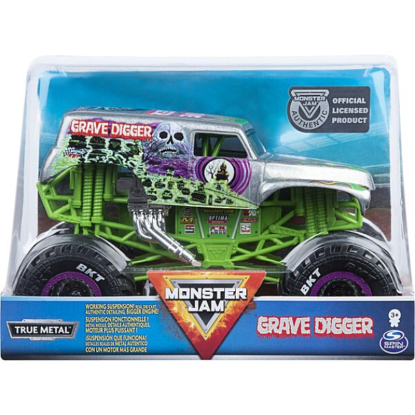 Monster Jam RC: Grave Digger távirányítós autó - 1:24 - 3. Kép