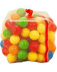Műanyag 100 darabos labda zárható hálóban - 1. Kép