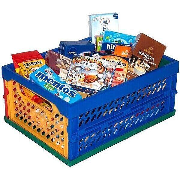 Műanyag tároló játék élelmiszerekkel - 1. Kép