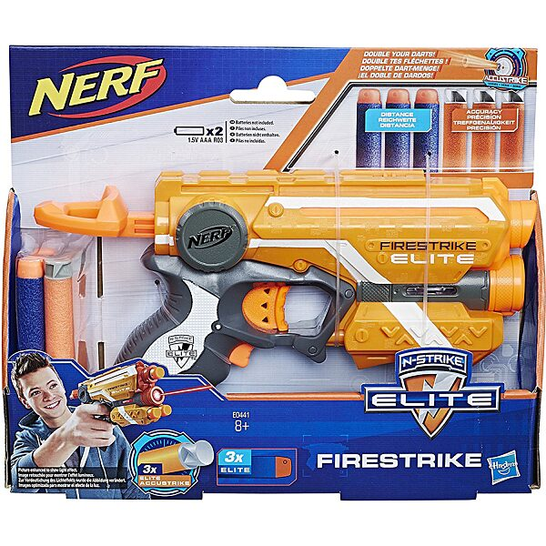 NERF N-Strike Elite: Firestrike szivacslövő pisztoly - több színben - 4. Kép