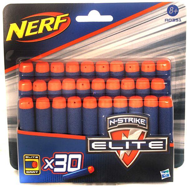 NERF N-Strike Elite: Kék lőszer utántöltő készlet - 30 db - 1. Kép