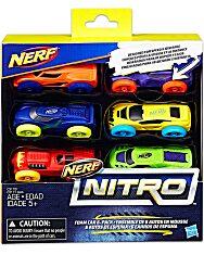 Nerf Nitro - 6 darabos kisautó szett - többféle - 1. Kép