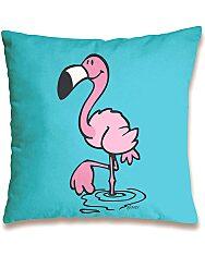 Nici: flamingó mintás párna - 37 x 37 cm