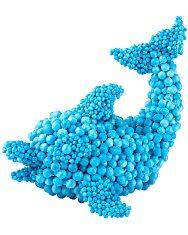 Orb Molecules: építőkészlet - kék - 2. Kép