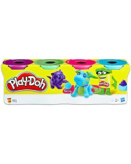 Play-Doh: 4 darabos gyurma készlet - divatszínek - 1. Kép