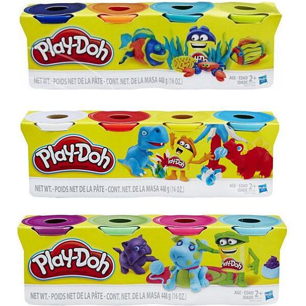 Play-Doh: 4 darabos gyurma készlet - divatszínek - 5. Kép