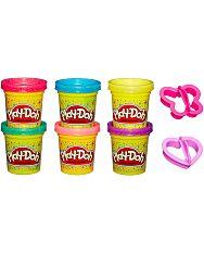 Play-Doh: 6 darabos csillámos gyurmaszett - 2. Kép